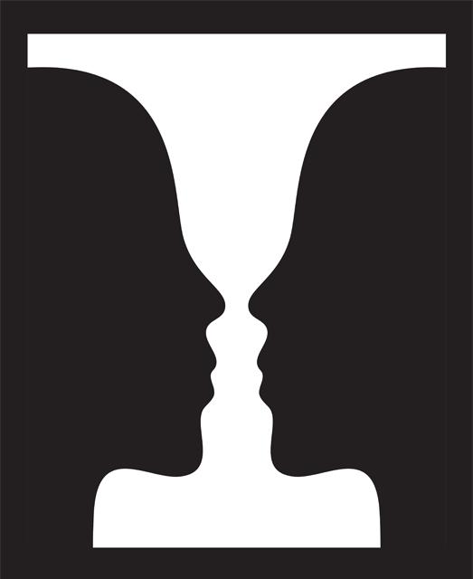 Figura y fondo terapia gestalt ejemplo cara copa